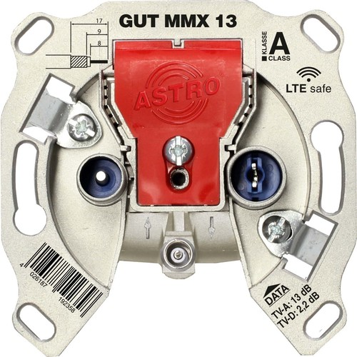 Astro Strobel BK-Modem-Durchgangsdose 13dB 5-1218 MHz GUT MMX 13