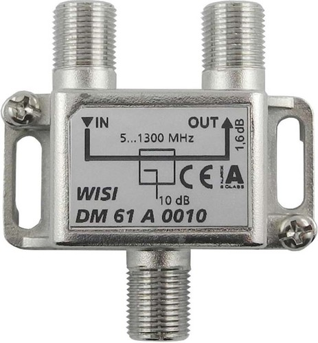 Wisi Abzweiger 1-fach 5-1300MHz,10dB Cl.A DM 61 A 0010