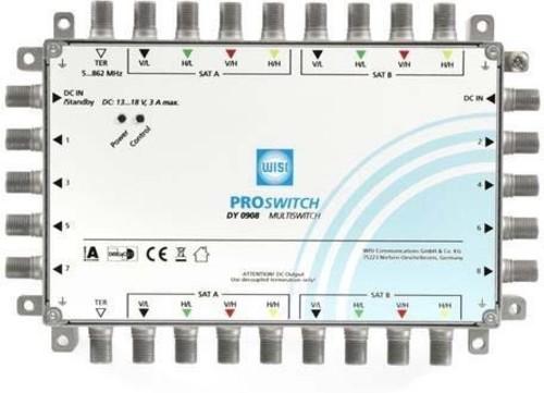 Wisi Multischalter 9in8 ter.pass.o.NT DY 0908