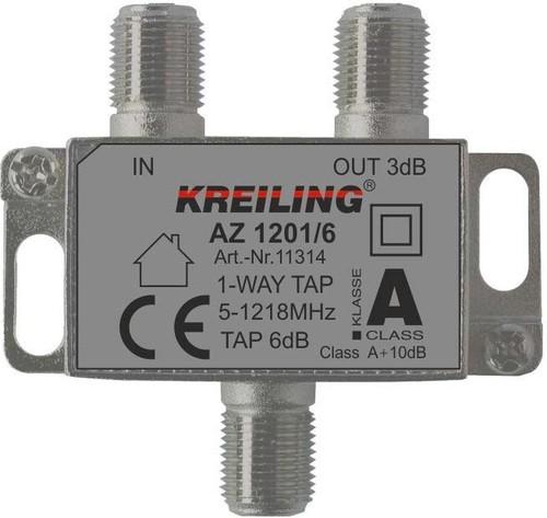 Kreiling Tech. F-Abzweiger 1-fach ch 5-1200 MHz 6dB AZ 1201/6
