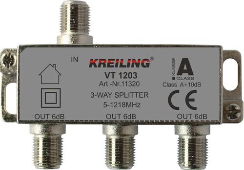 Kreiling Tech. F-Verteiler 3-fach ch 5-1200 MHz VT 1203