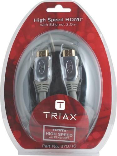 Triax Hirschmann HDMI-Kabel mit Ethernet-2.0m HDMI 2.0m