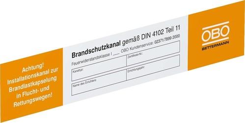 OBO Bettermann Vertr Kennzeichnungsschild für Kanalsysteme KS-K DE