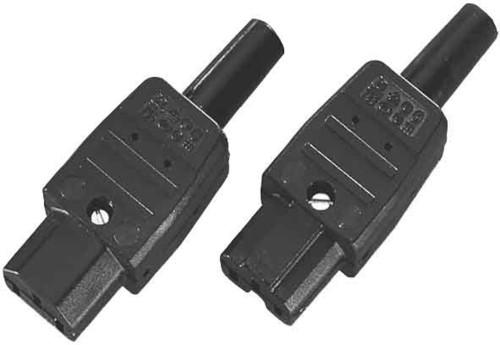 Bachmann Kaltgerätedose schwarz Kunststoff 915.170