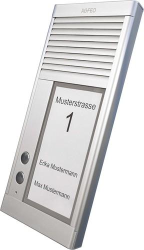 Agfeo Türsprechstelle 2Klingel aluminium IP33 DoorSpeak 2