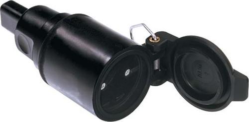 Bachmann Flachkabelkupplung schwarz f.IIIu-Leitung 740.003
