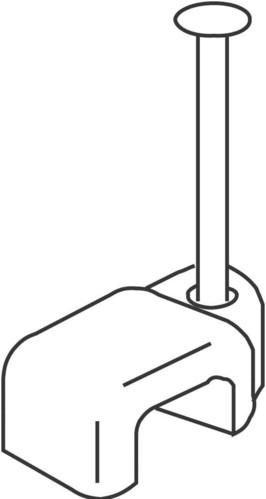 HKL Vierkantschelle mit Stahlnagel 502/25GR