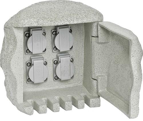 EVN Lichttechnik Gartenenergieverteiler Steinform 4-fach 230 418