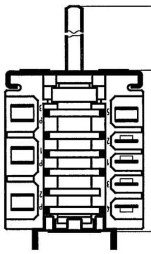 EGO Elektro. Nockenschalter 16A,250V/10A,400V 4623866500