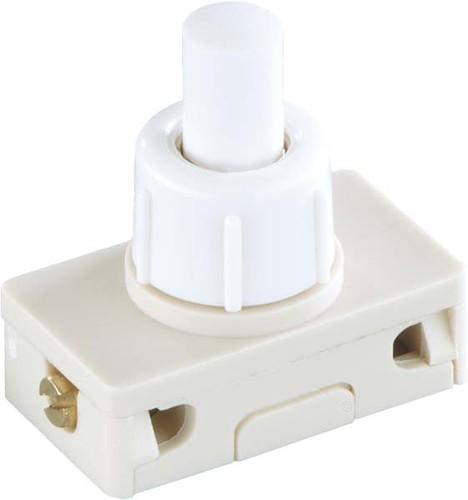 Bachmann EB-Druckknopfschalter weiß, 2(1)A,250V 1p. 924.137