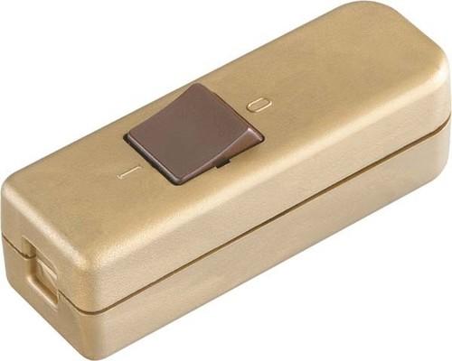 Bachmann Schnur-Zwischenschalter gold/braun 924.050
