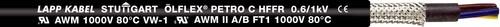 Lapp Kabel&Leitung ÖLFLEX PETRO C HFFR 5G2,5 BK 0023244