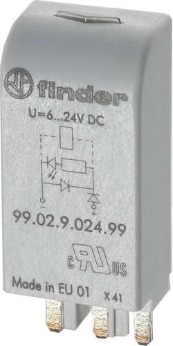 Finder LED gn + Diode 6.. 24VDC f.Fas. 95.03/05 99.02.9.024.99