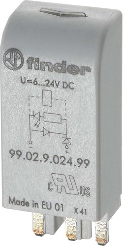 Finder LED gn + Varis 6..24VACDC f.Fas. 95.03/05 99.02.0.024.98