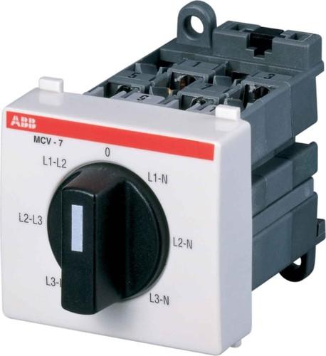 ABB Stotz S&J Spannungsmesser-Umschalter MCV7 MCV-7