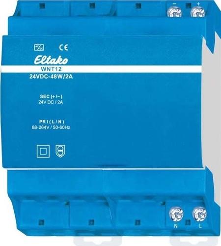 Eltako Weitbereichs-Schaltnetz. 24V DC-48W/2A WNT12-24VDC-48W/2A