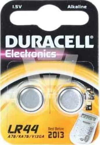 Hückmann Duracell Alkaline-Kn.zelle LR44 1,5V/105mAh 101797 (VE2)