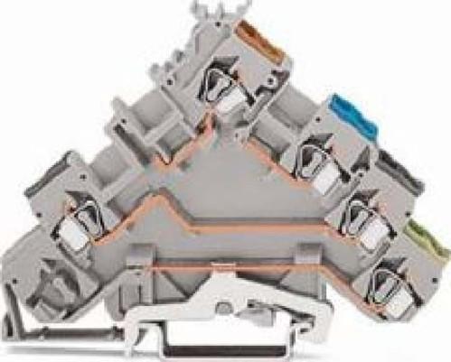 WAGO Kontakttechnik Initiatorenklemme 0,08-2,5mmq grau 280-570