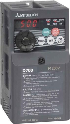 Mitsubishi Electric Frequenzumrichter 0,1kW 0,8A 200-240V FR-D720S-008SC-EC