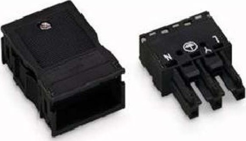 WAGO Kontakttechnik Buchse 2x0,5-4mmq schwarz 770-103