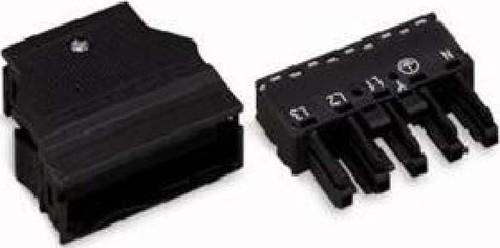 WAGO Kontakttechnik Buchse 2x0,5-4mmq schwarz 770-105