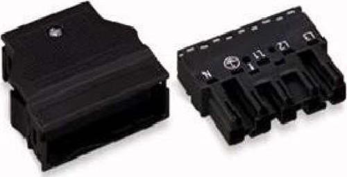 WAGO Kontakttechnik Stecker 2x0,5-4mmq schwarz 770-115