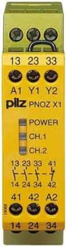Pilz Not-Aus-Schaltgerät 24VAC/DC 3n/o 1n/c PNOZ X1 #774300