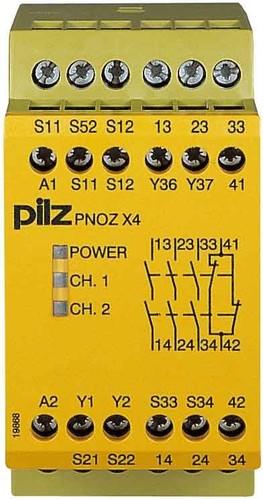 Pilz Not-Aus-Schaltgerät 24VDC 3n/o 1n/c PNOZ X4 #774730