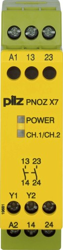 Pilz Not-Aus-Schaltgerät 24VACDC 2n/o PNOZ X7 #774059