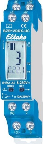 Eltako Betriebsstundenzähler m.Impulsfunktion BZR12DDX-UC