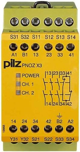 Pilz Not-Aus-Schaltgerät 230VAC/24VDC PNOZ X3 #774318