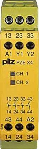 Pilz Kontakterweiterungsblock 24VDC 4n/o PZE X4 #774585