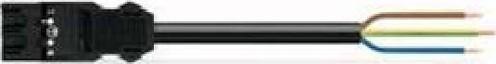 WAGO Kontakttechnik Anschlussleitung 3x1,5mmq schwarz 771-9993/206-201