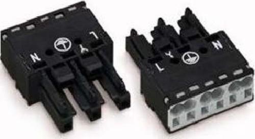 WAGO Kontakttechnik Buchse 2x0,5-4mmq schwarz 770-203