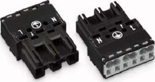 WAGO Kontakttechnik Stecker 2x0,5-4mmq schwarz 770-213