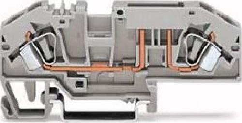 WAGO Kontakttechnik Sicherungsklemme 0,2-6qmm, grau 282-696