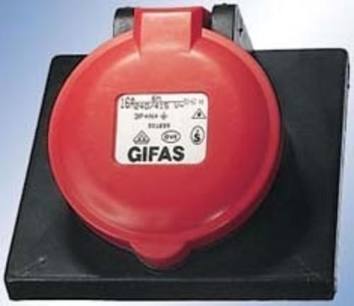 Gifas Electric CEE-Einbaudose vollgummi 400V,16A,5pol,6h 301659
