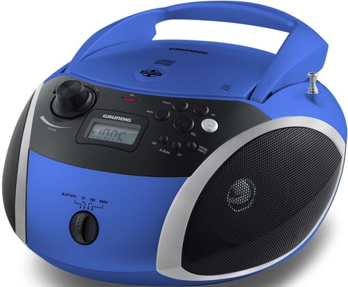 Grundig Radiorecorder/Boombox CD,BT,MP3,WMA GRB3000BT bl/si