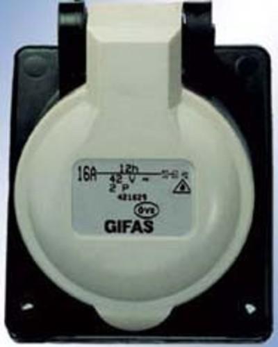 Gifas Electric CEE-Einbaudose vollgummi 42V,16A,2pol,12h 421629
