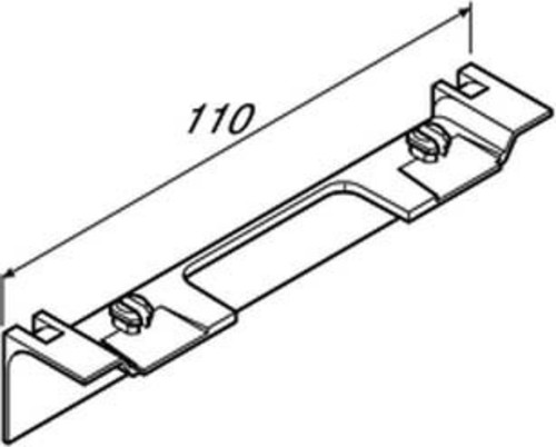 Tehalit Geräteträgerschürze zu SL 20x55mm D SL 20055AD1 alu