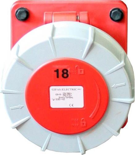 Gifas Electric CEE-Einbaudose vollgummi 400V,63A,5pol,6h 306359.IP67