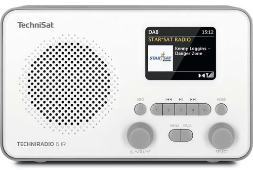 TechniSat DAB+ Digitalradio TECHNIRADIO6IR weiß/gr