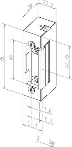 Assa Abloy effeff Türöffner ohne Schliessblech 17E L/R o.S.