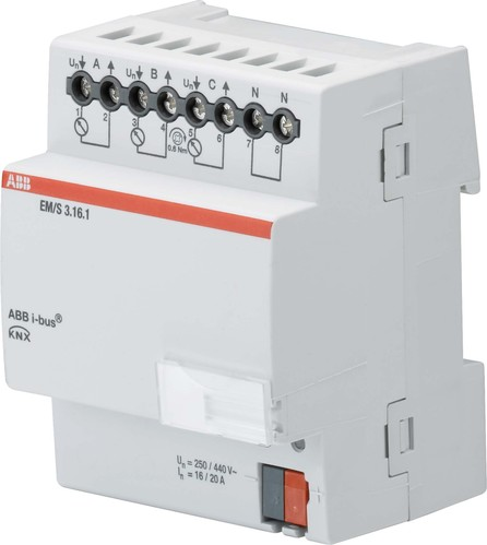 ABB Stotz S&J Energiemodul 3F, 16/20A, REG EM/S3.16.1
