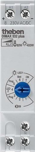 Theben Reiheneinbau-Dimmer f.ESL u.230V LED-Lp. DIMAX 532 plus