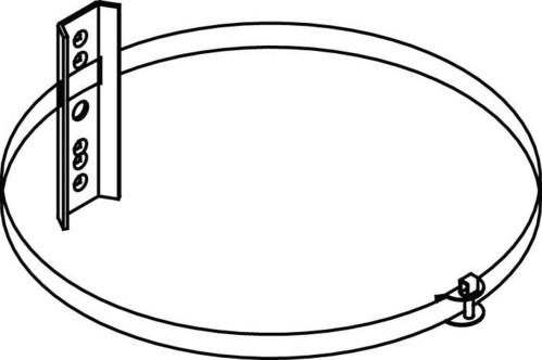 WHD Mastbefestigung f.AL 10/1 MB1/2