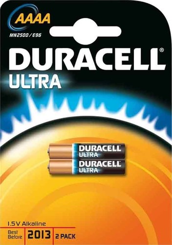 Duracell Alkaline-Batterie 1,5V (MX2500) Ultra-AAAA (Bli.2)