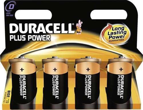 Duracell Alkaline-Batterie 1,5V (MN1300/LR20) PlusPower-D (K.4)