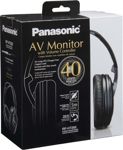 Panasonic Deutsch.CE HiFi-Monitor Kopfhörer RPHT265EK sw