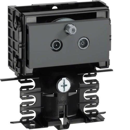 Tehalit SAT Stichleitungsdose schwarz SL20080950 sw